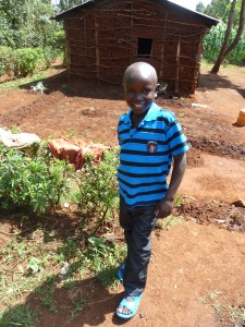 Manu was living in the streets of Kitale before Pamela took him in