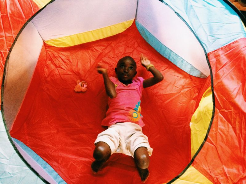 And the ball pit